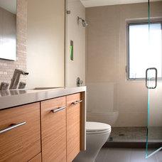 Modern Bathroom by JP Builders, Inc