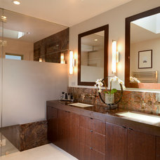 Contemporary Bathroom by Precision Home Builders Inc.