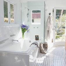 Mediterranean Bathroom by Ryan White Designs