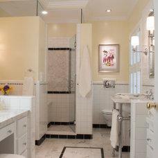 Transitional Bathroom by MK Shaefer