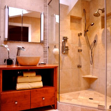 Transitional Bathroom by Catherine Canfield