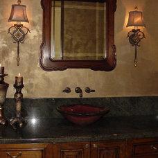 Mediterranean Bathroom by Marina Hanson Design