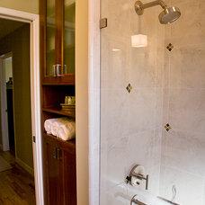 Transitional Bathroom by Neela Shukla
