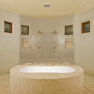 Bathroom - mediterranean mosaic tile bathroom idea in San Francisco