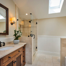 Traditional Bathroom by Dennis Mayer, Photographer