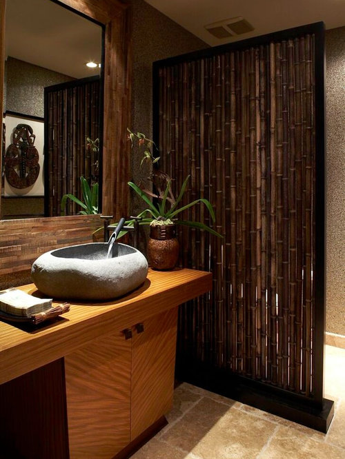 Bamboo walls home design ideas pictures remodel and decor for Bamboo bathroom design