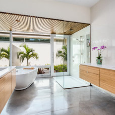 Tropical Bathroom by Leader Design Studio