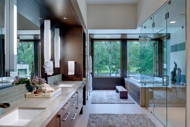 Contemporary Bathroom by Linda Fritschy Interior Design