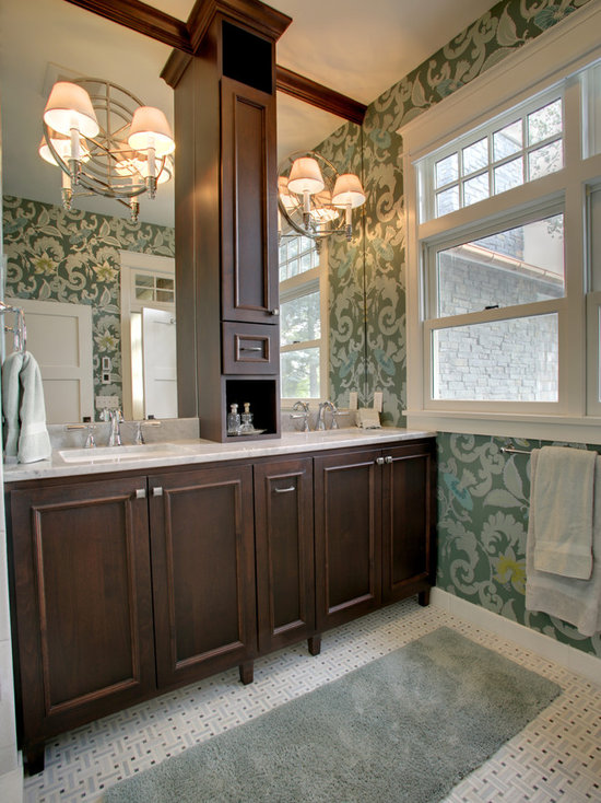 Double Vanity Linen Towers Houzz