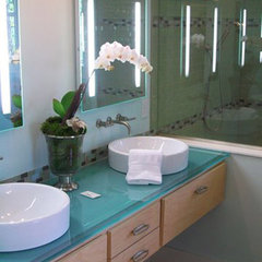 contemporary bathroom by Lou Stewart
