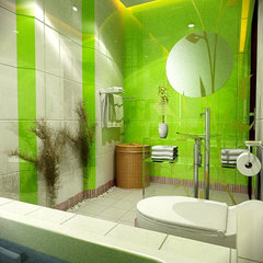 asian bathroom Lovey colors and nature-inspired