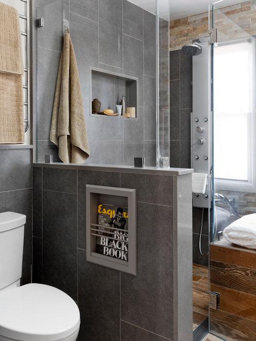 Bathroom Magazine in wall magazine rack bathroom ideas, designs & remodel photos   houzz