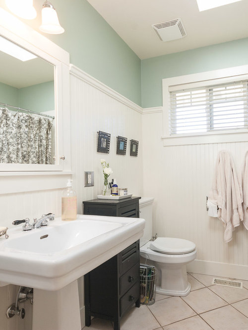 High wainscoting home design ideas pictures remodel and decor for How high should wainscoting be in a bathroom