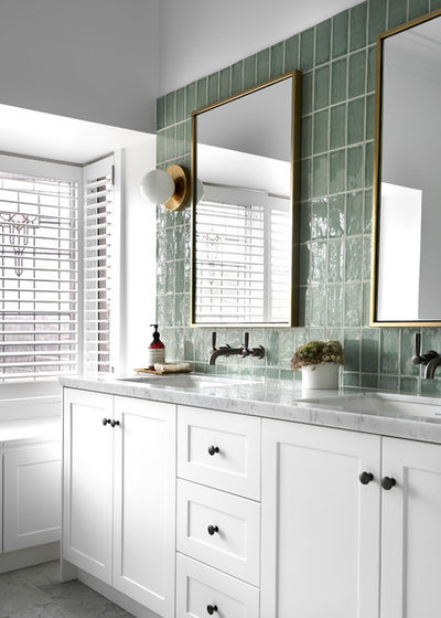 Transitional Bathroom by March Twice Interiors