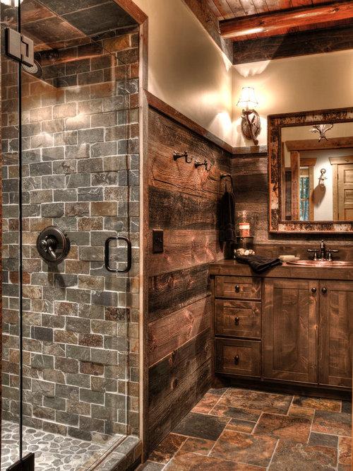 Badezimmer Rustikal Gestalten: Umwerfende badezimmer im rustikalen ...