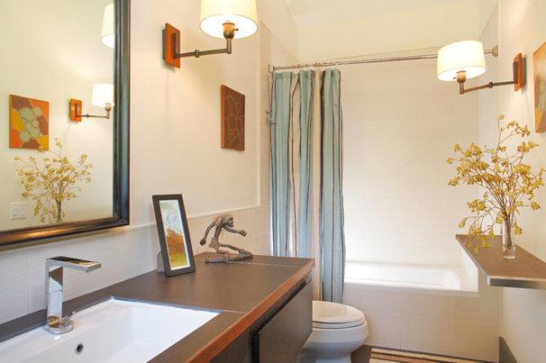 Traditional Bathroom by EAG Studio