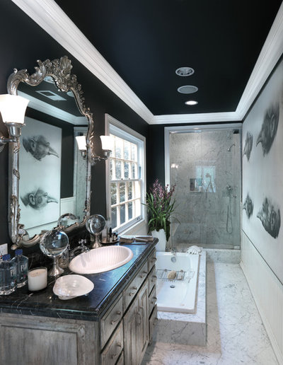American Traditional Bathroom by Philip Nimmo Design