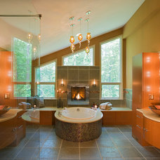Contemporary Bathroom by Kitchens by Request