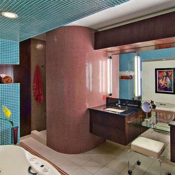 Luxurious condo bath tile