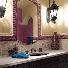 Mediterranean Bathroom by Hamilton-Gray Design, Inc.