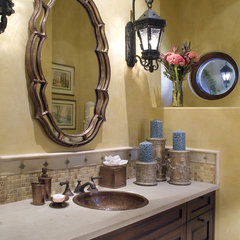 mediterranean bathroom by Hamilton-Gray Design, Inc.