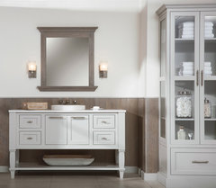 Elegant Luxurious Lakeshore Cottage Powder Room More Info