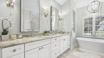 luxurious master bath oasis