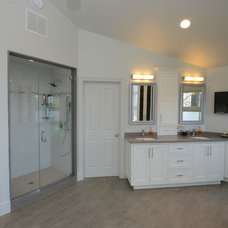Transitional Bathroom by Cabinet Artistry
