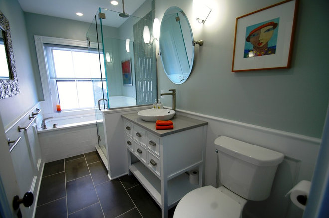 Traditional Bathroom by New England Design & Construction