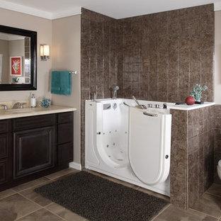 Luxurious Walk-in Bathtub with Chrome Accessories (Open Door)