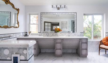 Elegant High-Tech Master Bath Designed for a Wheelchair User