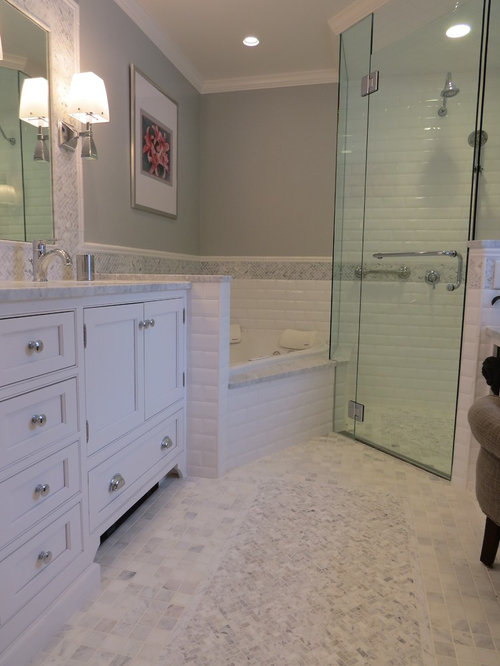 Portland Maine Bathroom Design Ideas Renovations Photos With Beaded Inset Cabinets