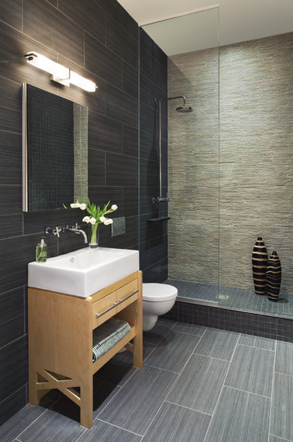 Contemporary Bathroom by Prestige Custom Building & Construction, Inc.