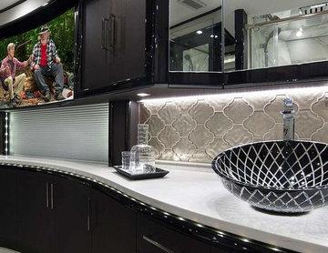 Luxury glass vessel sink | Black transparent