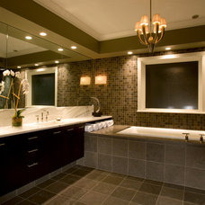 Transitional Bathroom by Michael Abrams Limited