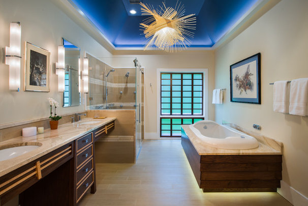 Asian Bathroom by Douglas R. Schotland Architect
