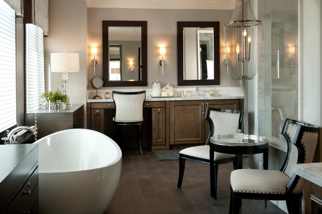 Transitional Bathroom by Robeson Design