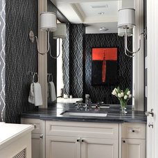 Traditional Powder Room by Leona Mozes Photography