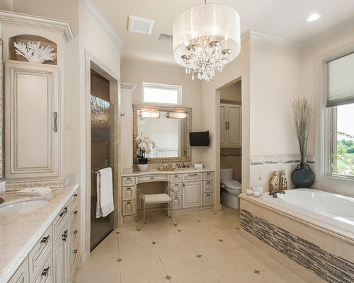 salle de bain avec du carrelage en pierre calcaire et un bidet photos et id es d co de salles. Black Bedroom Furniture Sets. Home Design Ideas