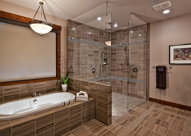 Contemporary Bathroom by tdSwansburg design studio
