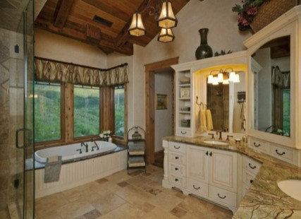 kitchen cabinets green lake view lodge style home 20457