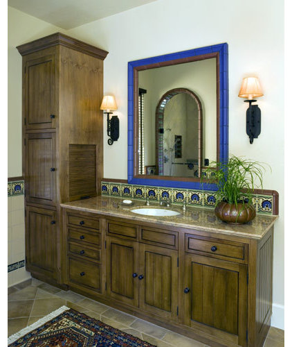 mediterranean bathroom by Miller Stein Interior Design