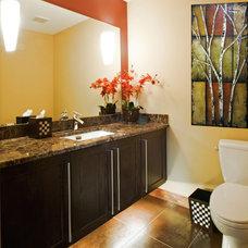 Contemporary Bathroom by M.J. Whelan Construction
