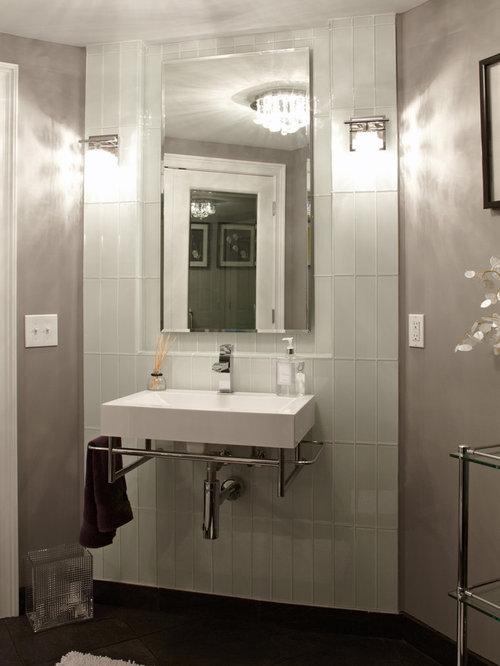 3x12 subway tile home design ideas renovations photos for Do metro trains have bathrooms