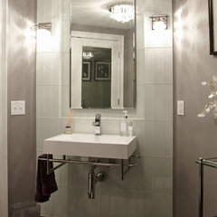 modern bathroom by M.J. Whelan Construction