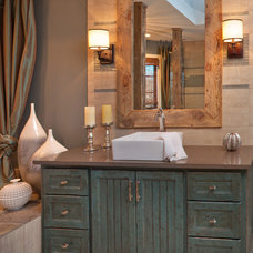 Rustic Bathroom by Erica Lea Design Studios