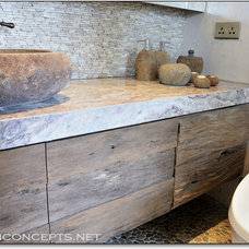 Eclectic Bathroom by Newton Concepts Furniture & Interior Design
