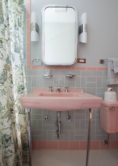 Midcentury Bathroom by Kayla Pearson