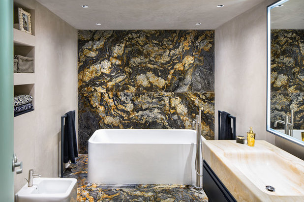 How to balance task and ambient lighting in a bathroom