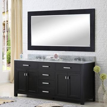 "Madison 72"" Espresso Bathroom Vanity"